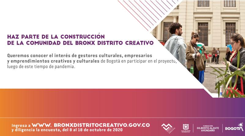 encuesta grupos de interés Bronx Distrito Creativo