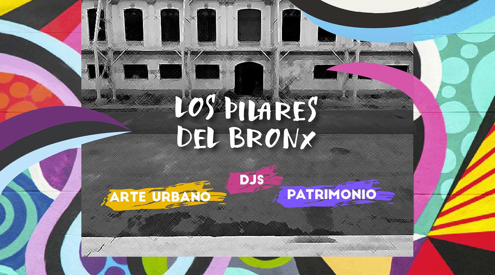 """""""Los pilares del Bronx"""" se visten de color en la última intervención en el Bronx Distrito Creativo."""